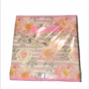Flower pink storage bin